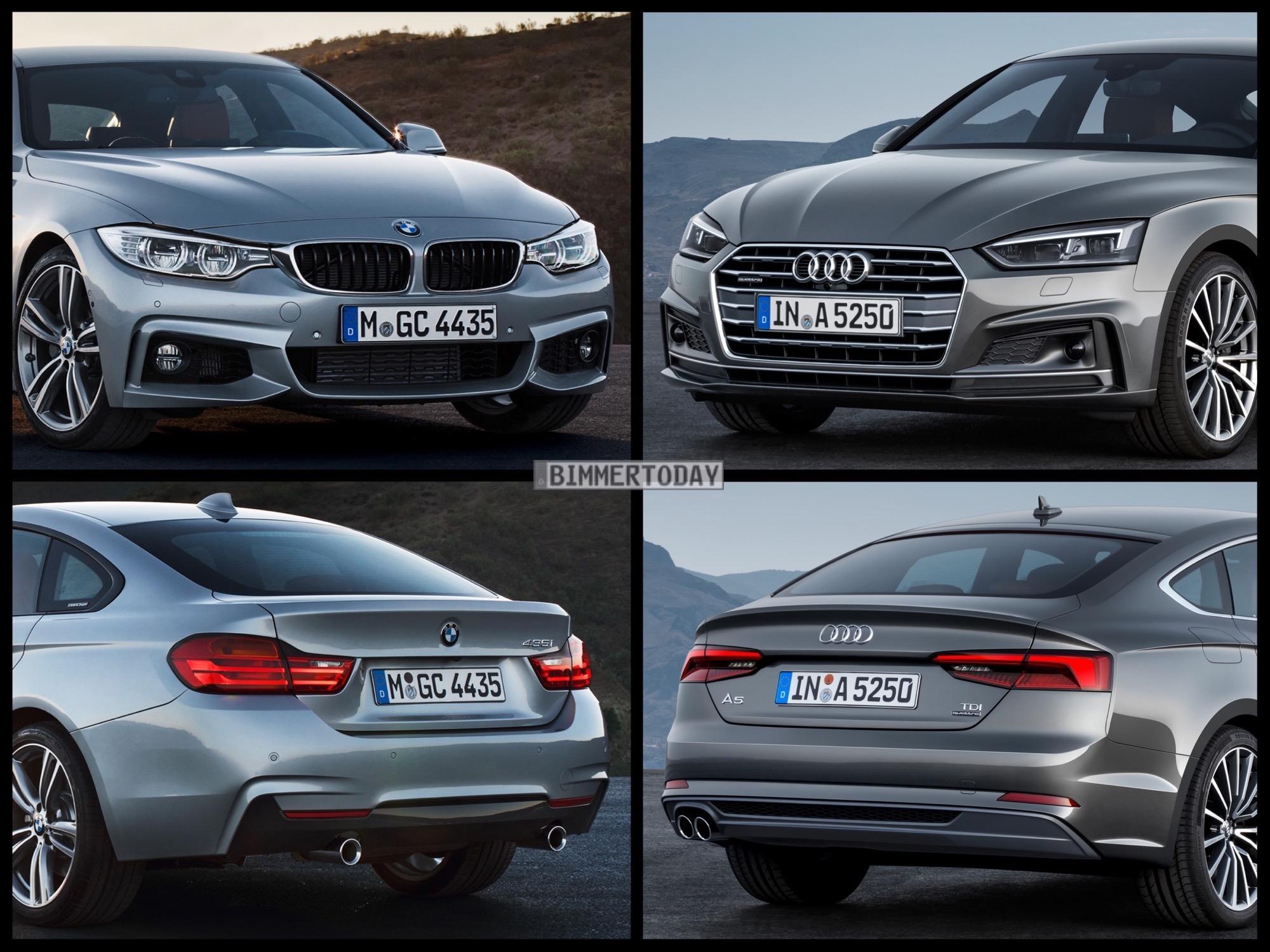 Vergleich Audi A5 Sportback 2017 Vs Bmw 4er Gran Coup 233
