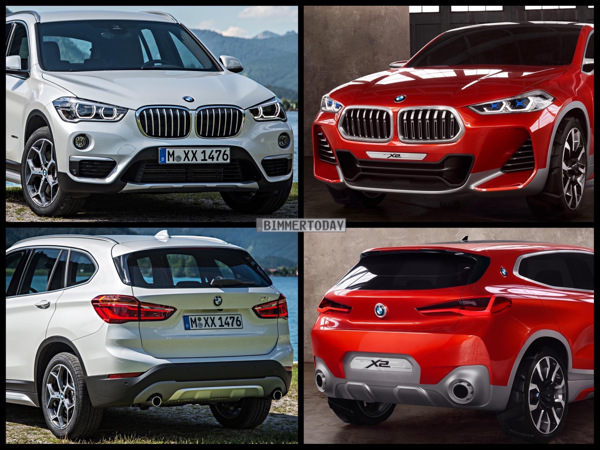Bild Vergleich Bmw X2 Concept Trifft Praktischeren Bruder X1