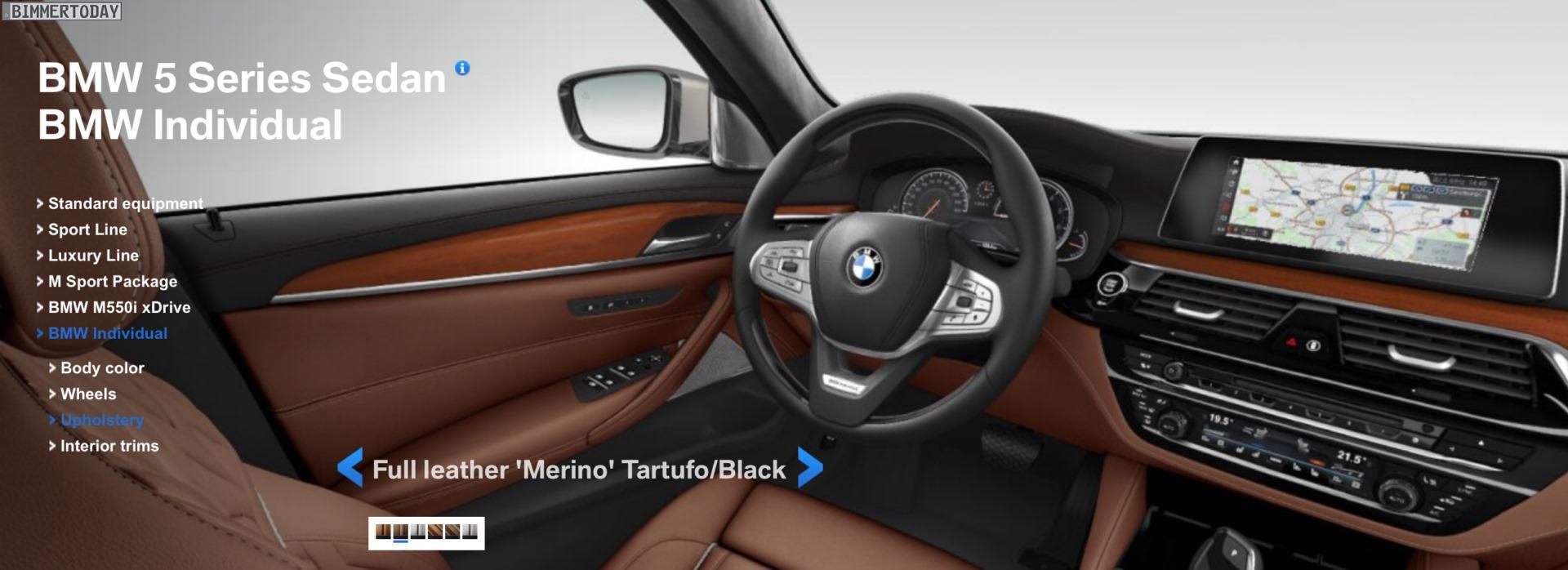 BMW 5er G30: Visualizer zeigt Farben und Ausstattungs-Lines