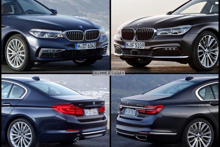 Design Vergleich Neuer Bmw 5er G30 Und Bmw 7er G11
