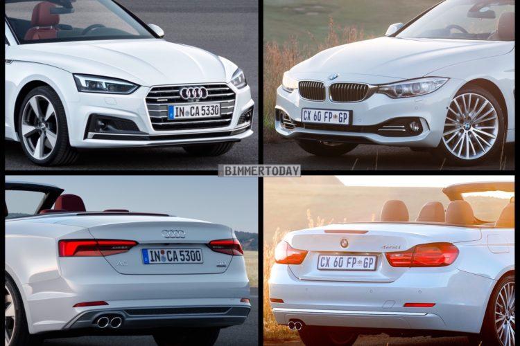 Bild Vergleich Audi A5 Cabrio 2017 Gegen Bmw 4er F33