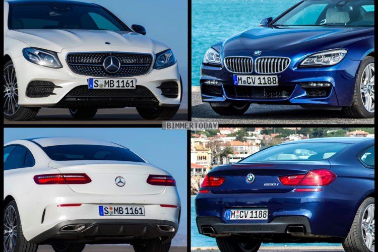 Bild Vergleich Mercedes E Klasse Coupe Gegen Bmw 6er