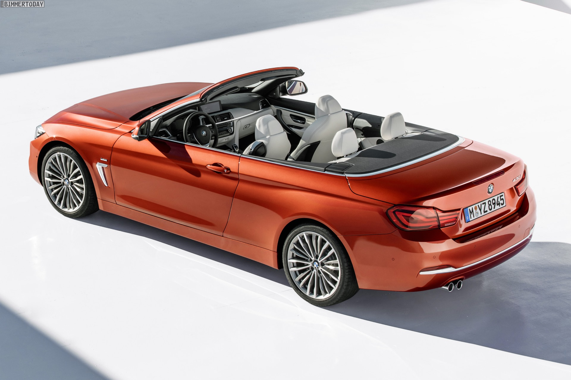 Bmw 4er Cabrio 2017 Facelift Fotos Zeigen Sunset Orange