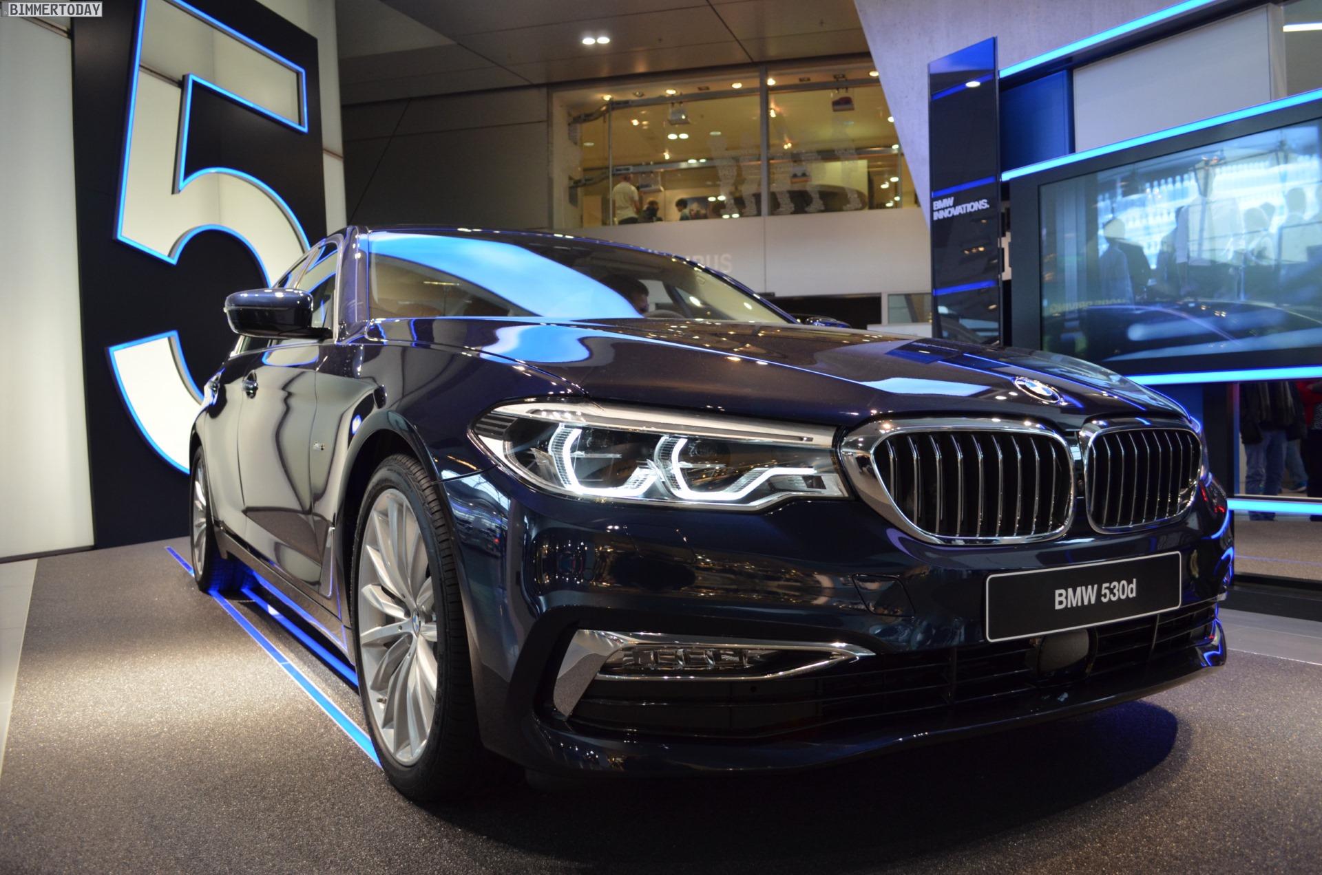 Bmw 5er G30 Imperialblau Trifft Luxury Line In Der Bmw Welt