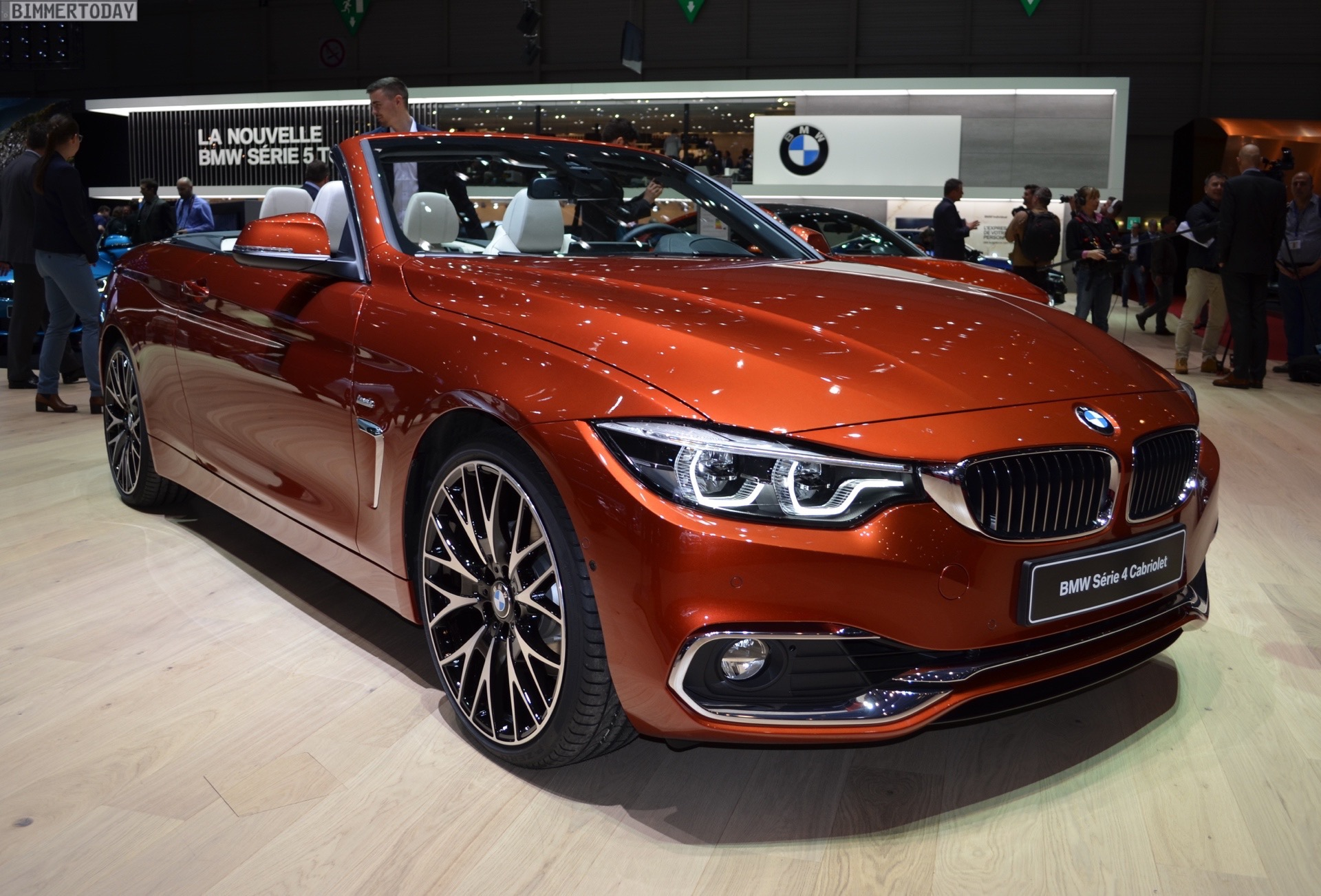 Genf 2017 Bmw 4er Cabrio Facelift Strahlt In Sunset Orange