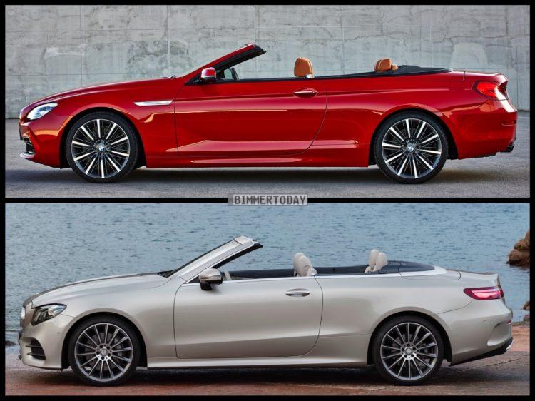 Vergleich: Mercedes E-Klasse Cabrio 2017 vs. BMW 6er F12 LCI