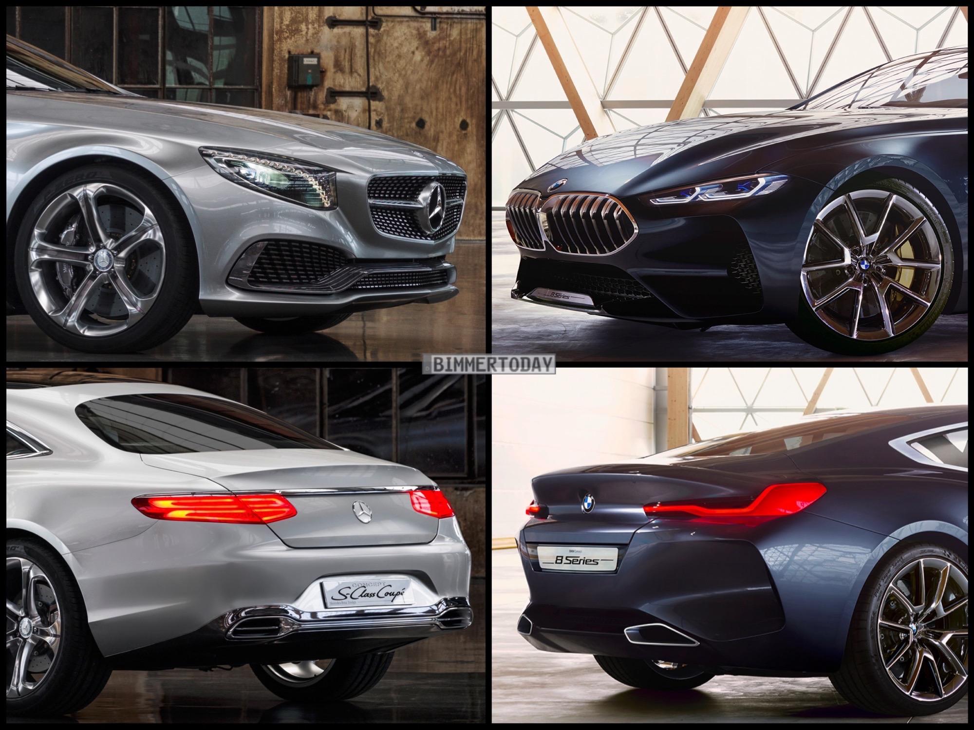Showcar Vergleich Bmw 8er Vs Mercedes S Klasse Coup 233
