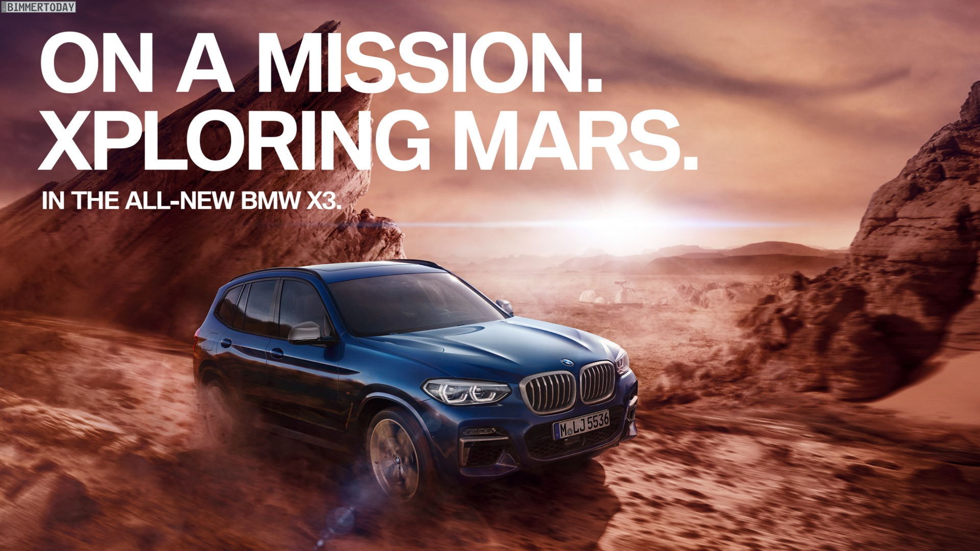 BMW X3 G01 Werbung: Im SUV auf dem Weg zum Mars