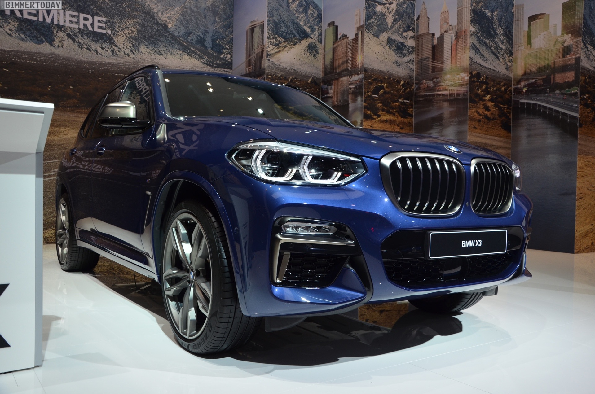 IAA 2017: BMW X3 M40i G01 in Phytonic Blue – Live-Fotos