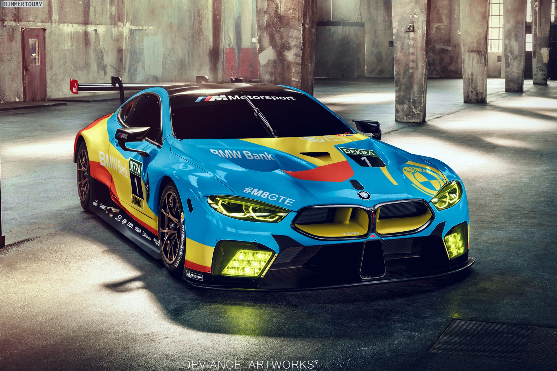 Bmw M8 Gte Art Car So Sch 246 N K 246 Nnte Das Art Car 20 Werden