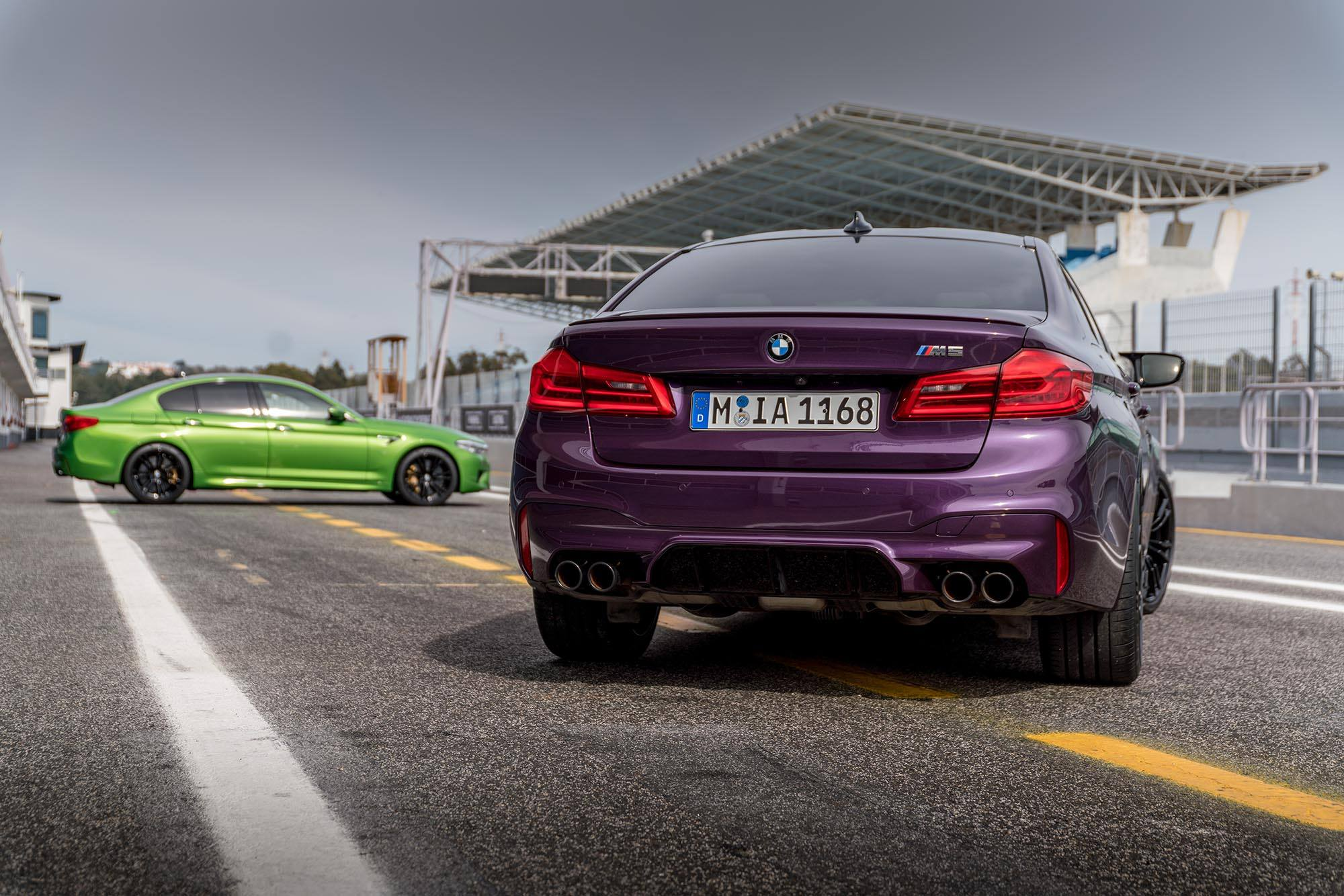 Bmw M5 F90 Individual Frozen Black Purple Silk Java Green