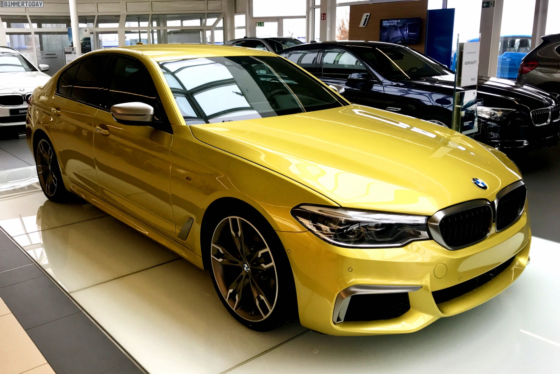 Bmw Individual Bmw M550i Xdrive In Austin Yellow Metallic