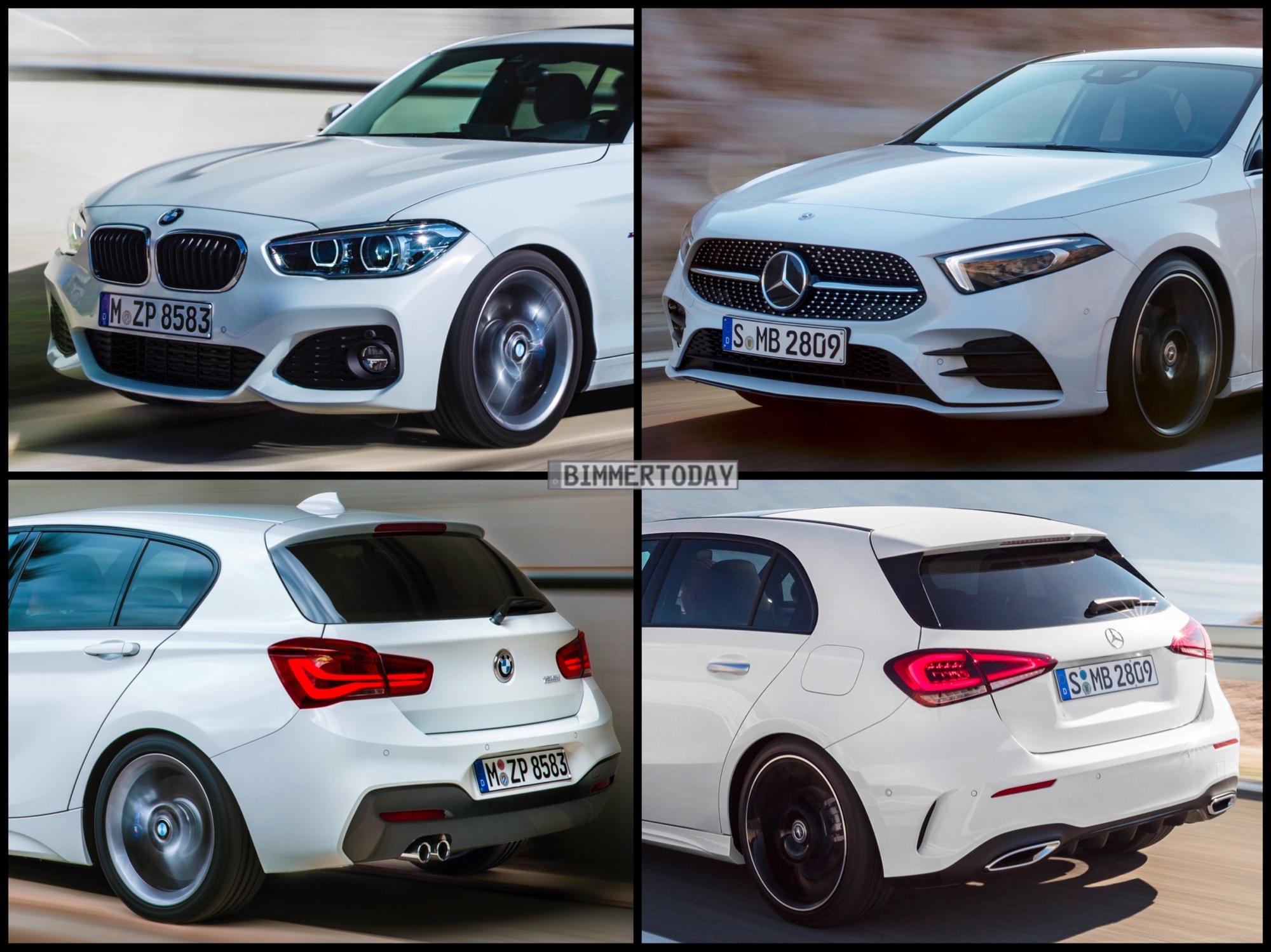 Bild-Vergleich: Neue Mercedes A-Klasse 2018 trifft BMW 1er