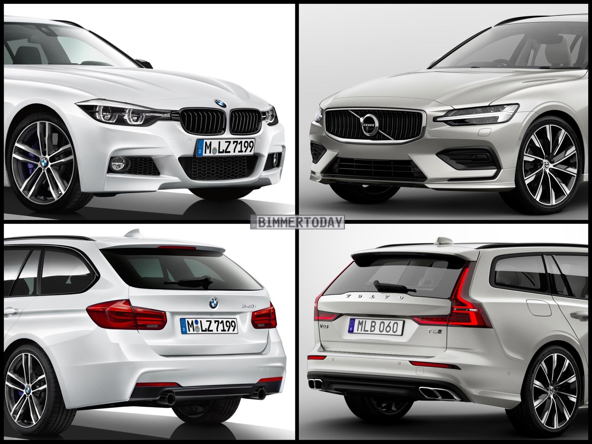 Bild Vergleich Volvo V60 2018 Trifft Bmw 3er Touring F31 Lci