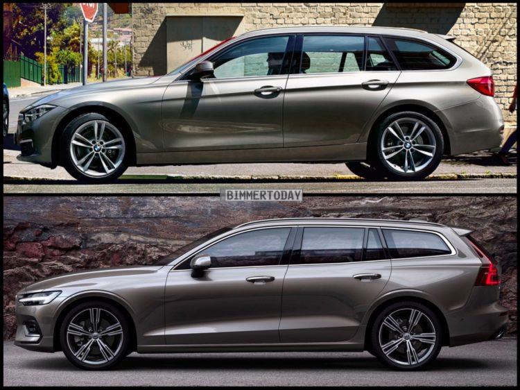 Volvo 2019 V60 >> Bild-Vergleich: Volvo V60 2018 trifft BMW 3er Touring F31 LCI