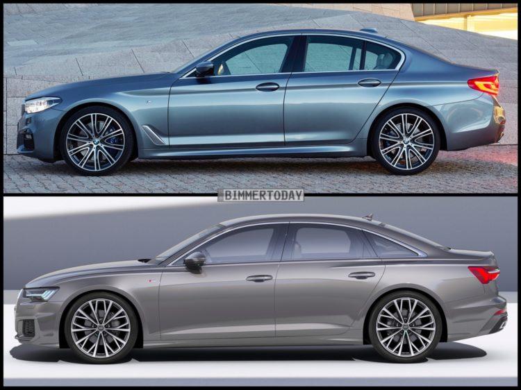 Bild Vergleich Neuer Audi A6 2018 Gegen Bmw 5er G30