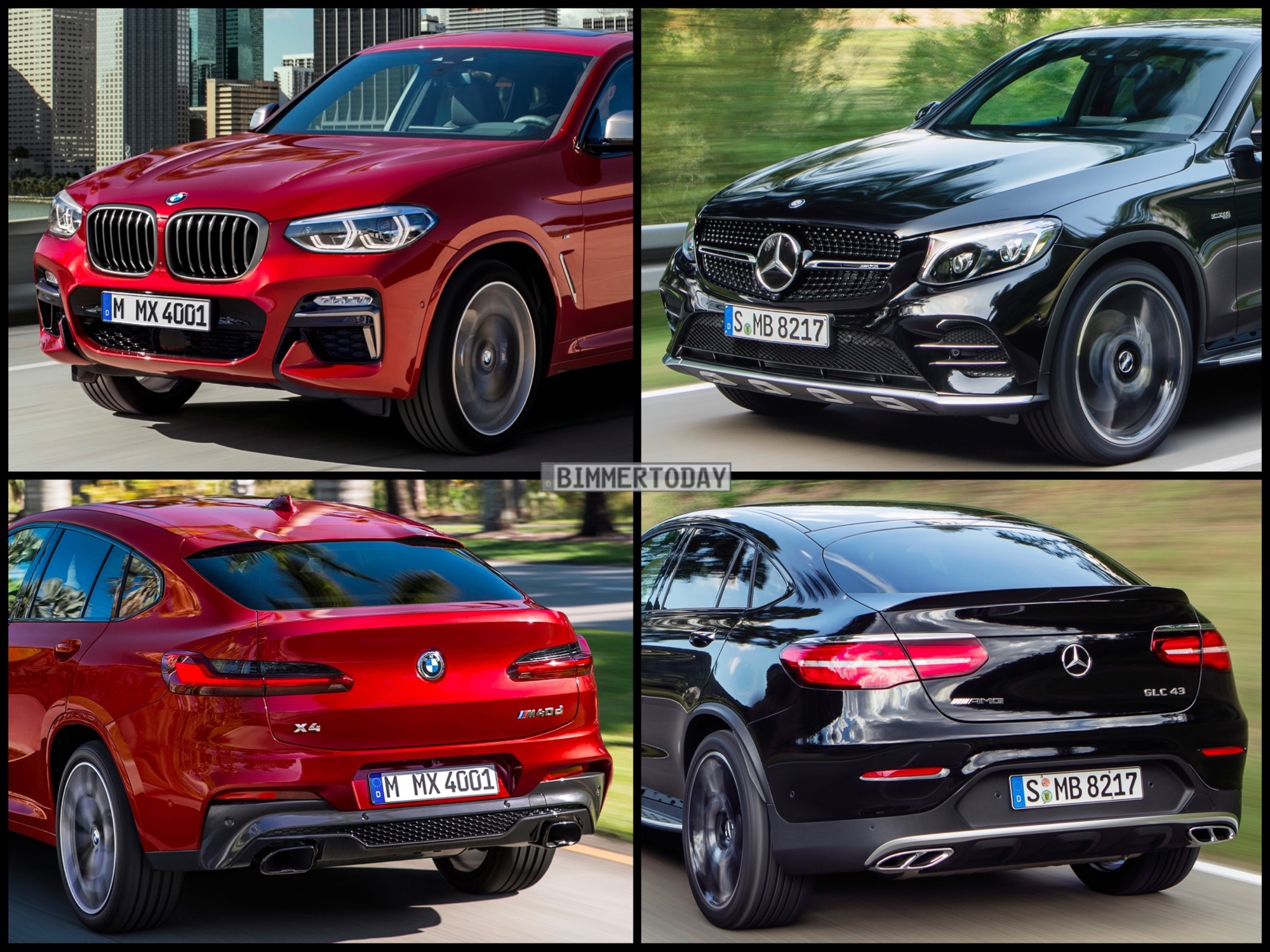 Bild Vergleich BMW X4 2018 trifft Mercedes GLC Coupé