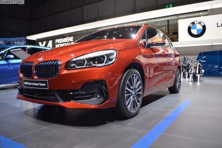 genf 2018: bmw 2er active tourer facelift in sunset orange