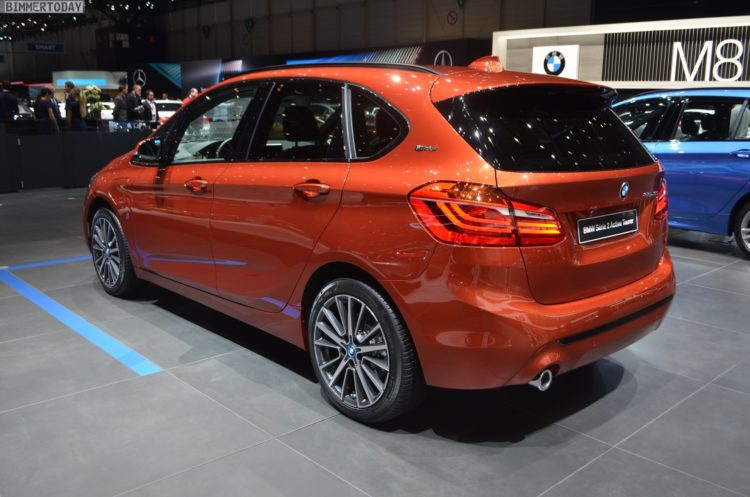 Genf 2018 Bmw 2er Active Tourer Facelift In Sunset Orange