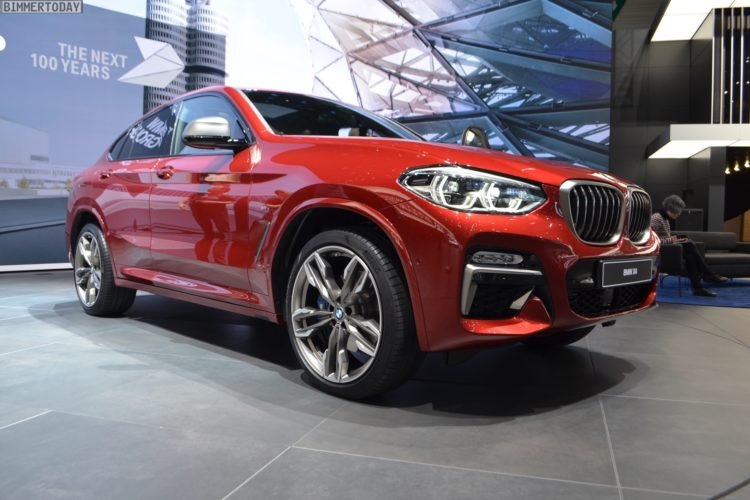 Genf 2018 Live Fotos Bmw X4 M40d G02 In Flamenco Rot