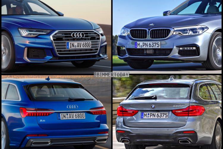 Bild Vergleich Neuer Audi A6 Avant 2018 Vs Bmw 5er Touring