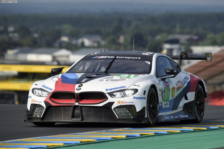 le mans 2018 bmw m8 gte l uft vor comeback problemlos. Black Bedroom Furniture Sets. Home Design Ideas