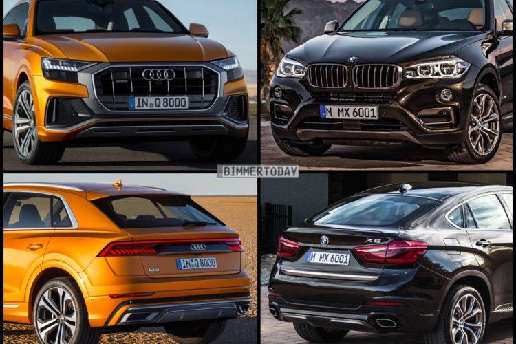 Bild Vergleich Audi Q8 2018 Trifft Bmw X6 F16