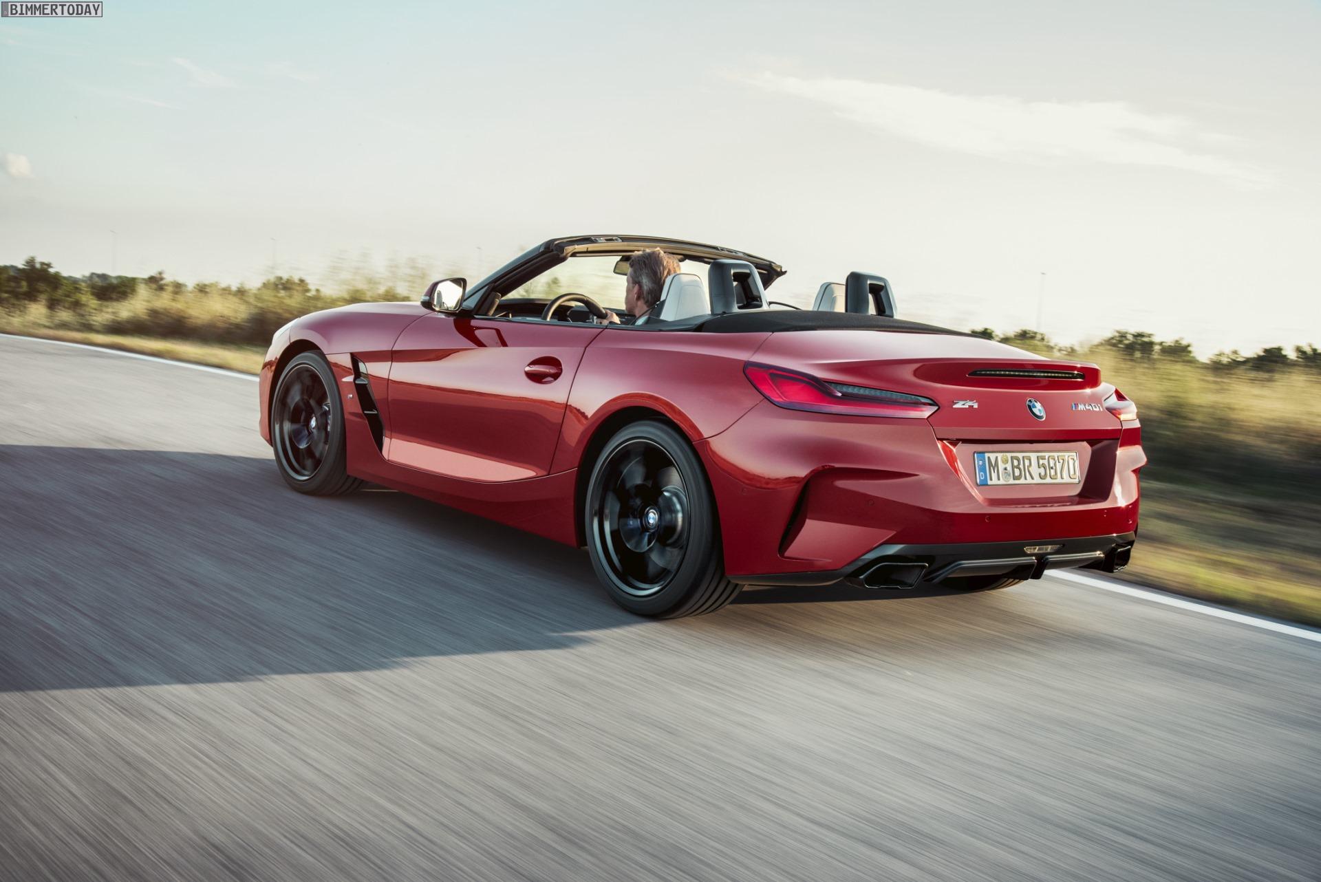 BMW Z4 G29 in Melbourne Rot: Neue Fotos zeigen Stoffverdeck