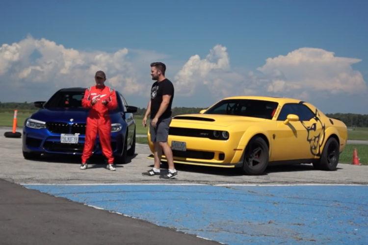Video Vergleich Bmw M5 Competition Vs Dodge Demon