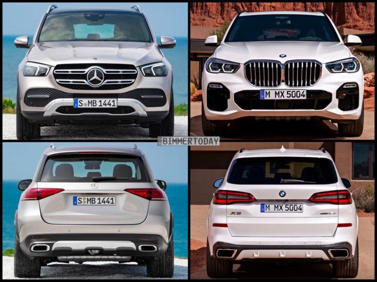 Bild Vergleich Mercedes Gle 2019 Gegen Bmw X5 G05