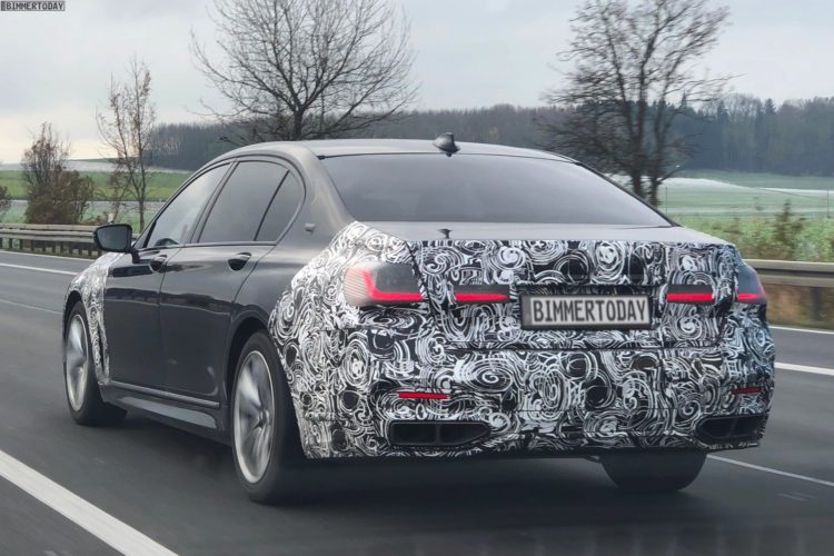 Bmw 7er Facelift 2019 Erlkonig Zeigt Details Des Luxus Updates