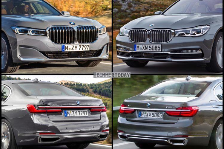 Bild Vergleich Bmw 7er G11 G12 Mit Und Ohne Facelift 2019