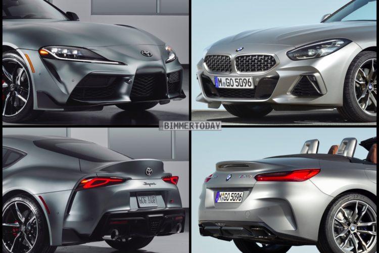 Zwillinge Im Bild Vergleich Toyota Supra Trifft Bmw Z4 G29