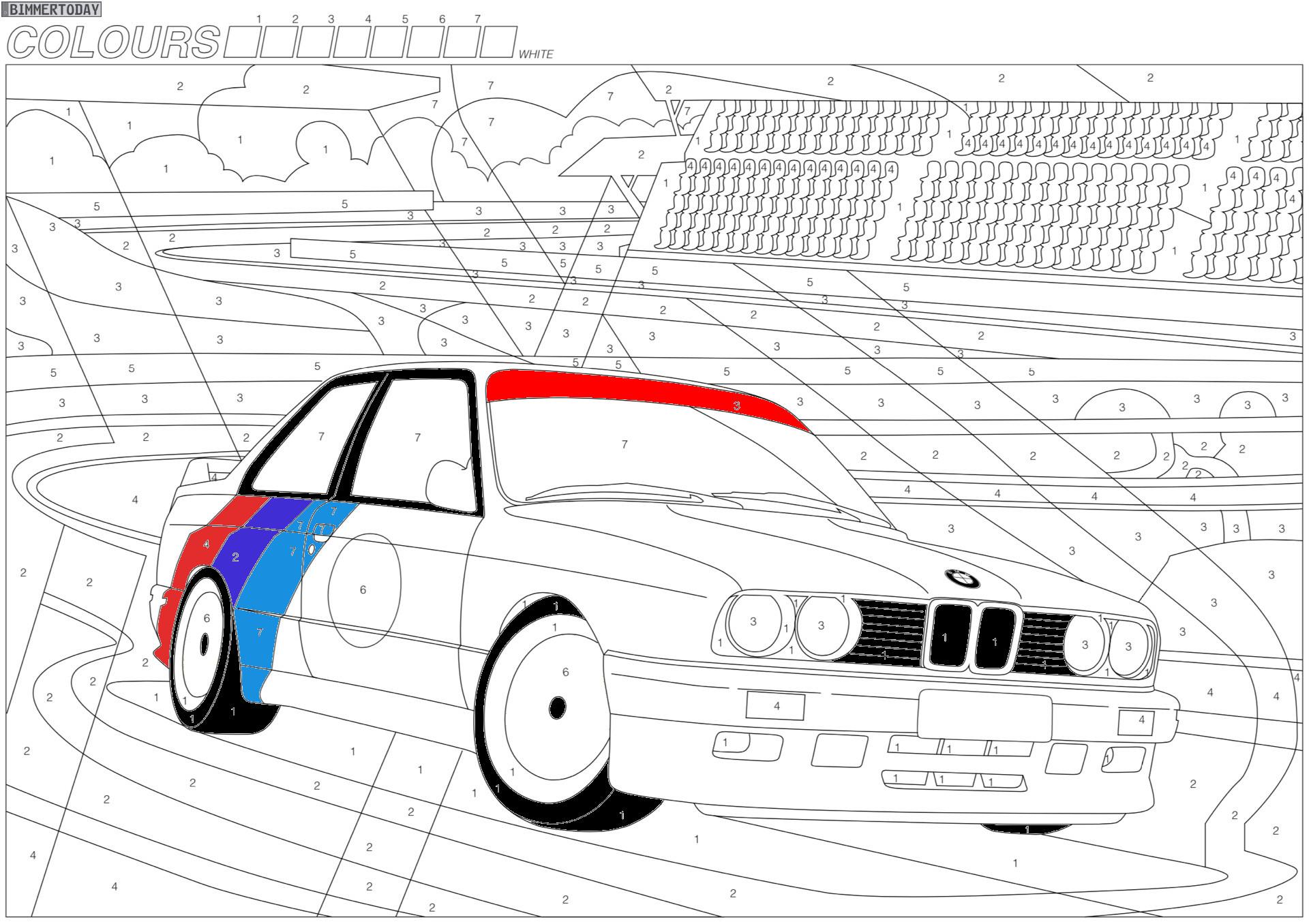 Kindergarten zu Hause: Coole Ausmalbilder mit BMW-Motiven