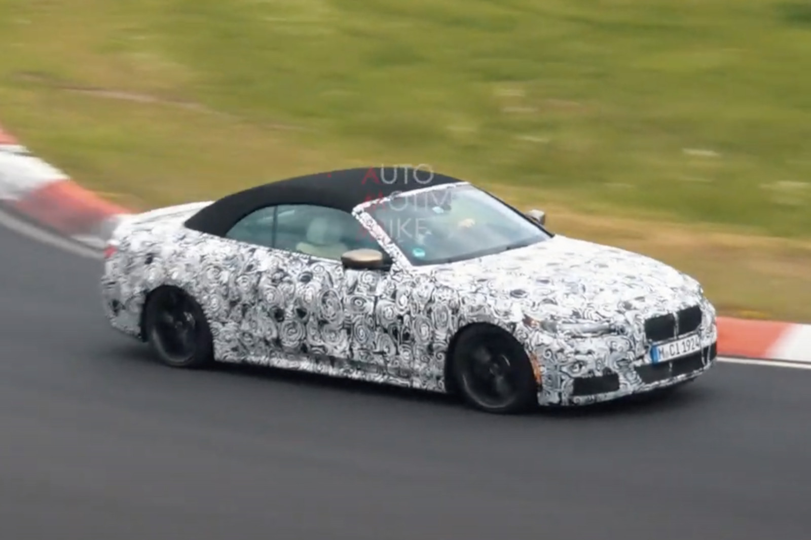 BMW 4er Cabrio 2021: Erlkönig-Video zeigt M440i G23 am Ring