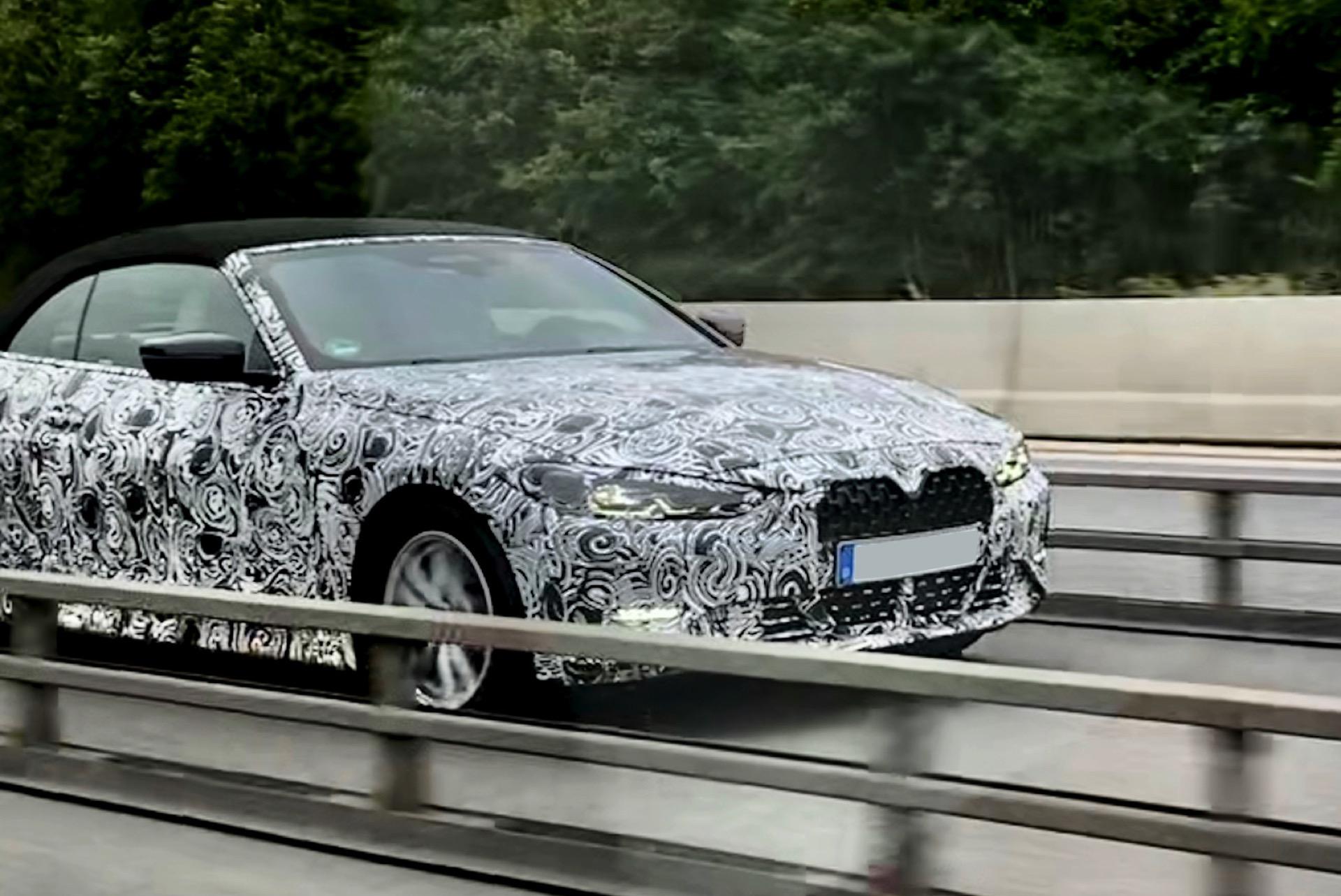 BMW 4er Cabrio 2021: Erlkönig-Fotos zeigen die G23-Front