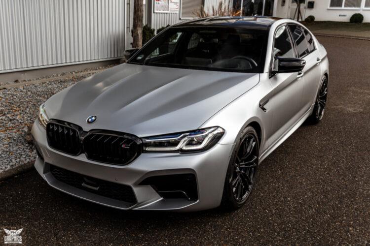 Bmw M5 Facelift In Silky Silver Seidenmatt Statt Schwarz