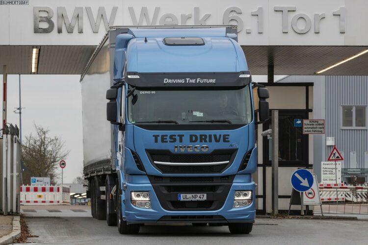BMW Logistik LNG Lkw Steyr Regensburg CO2