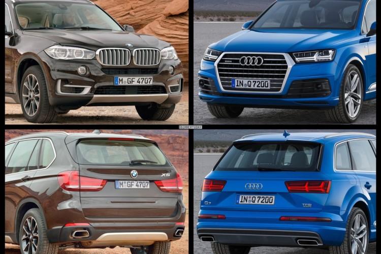 Bild-Vergleich: Audi Q7 2015 trifft BMW X5 F15