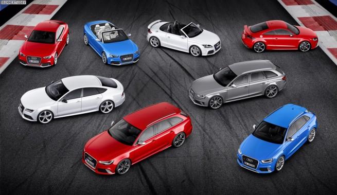 Audi RS-Markteinfuehrungen 2013