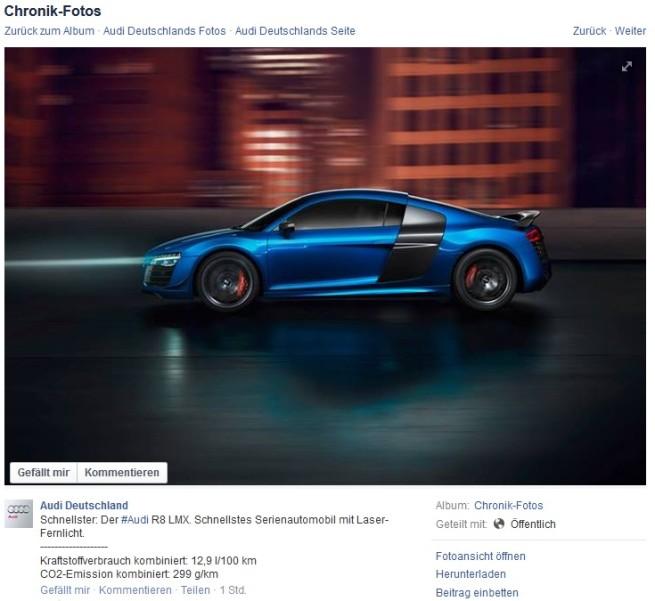 Audi-R8-LMX-Laserlicht-Schnellster-Facebook