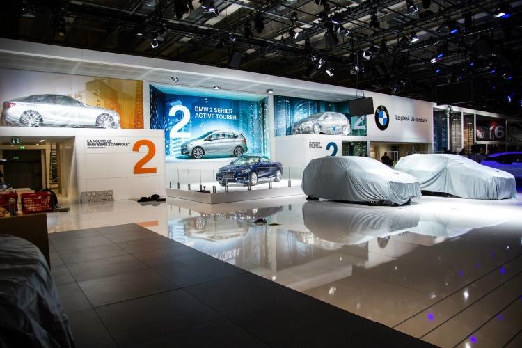 Autosalon-Paris-2014-BMW-Stand-Automesse-Weltpremieren-verhuellt