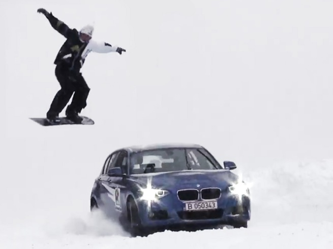 BMW-120d-xDrive-F20-Video-Schnee-Winter-Ski