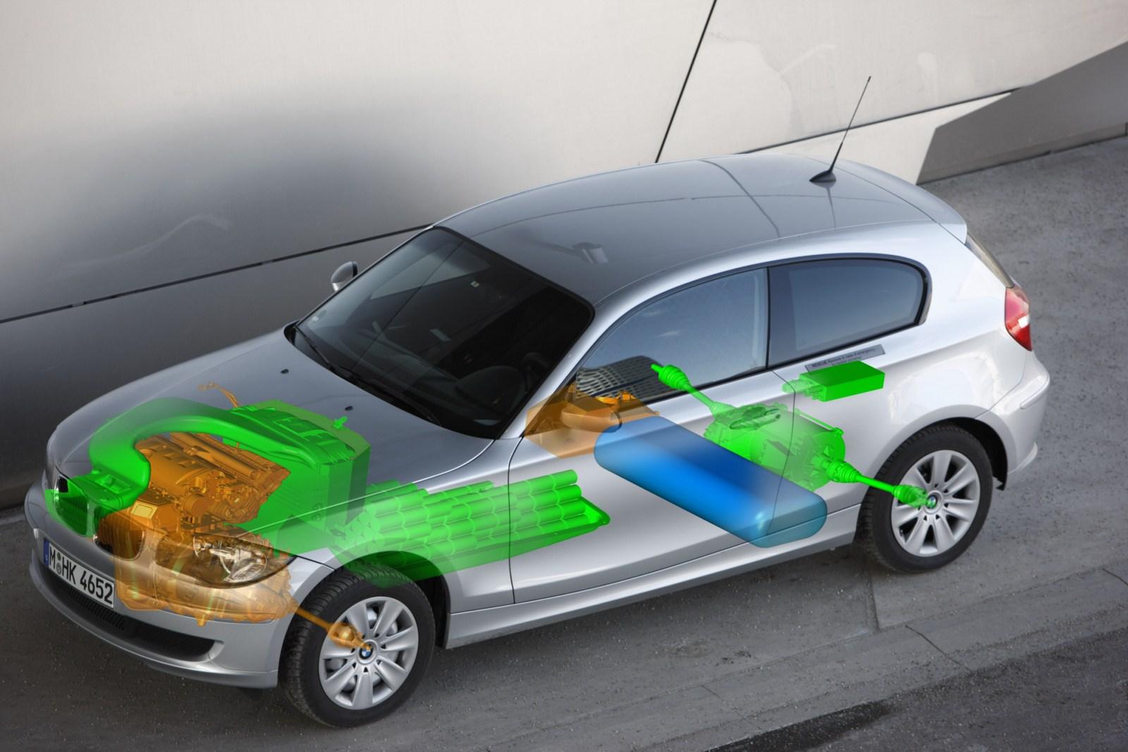 brennstoffzellen versuchsfahrzeug der bmw group auf 1er basis. Black Bedroom Furniture Sets. Home Design Ideas
