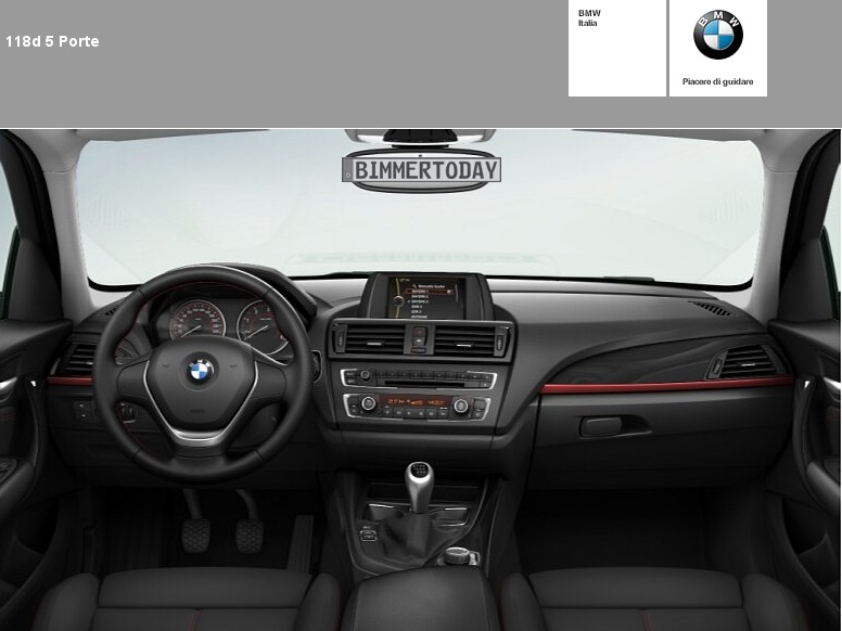 konfigurator zum bmw 1er f20 erste bilder vom interieur. Black Bedroom Furniture Sets. Home Design Ideas
