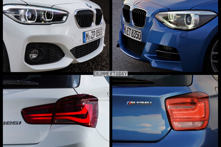 Bild Vergleich Bmw 1er M Sport 2015 Trifft Pre Facelift