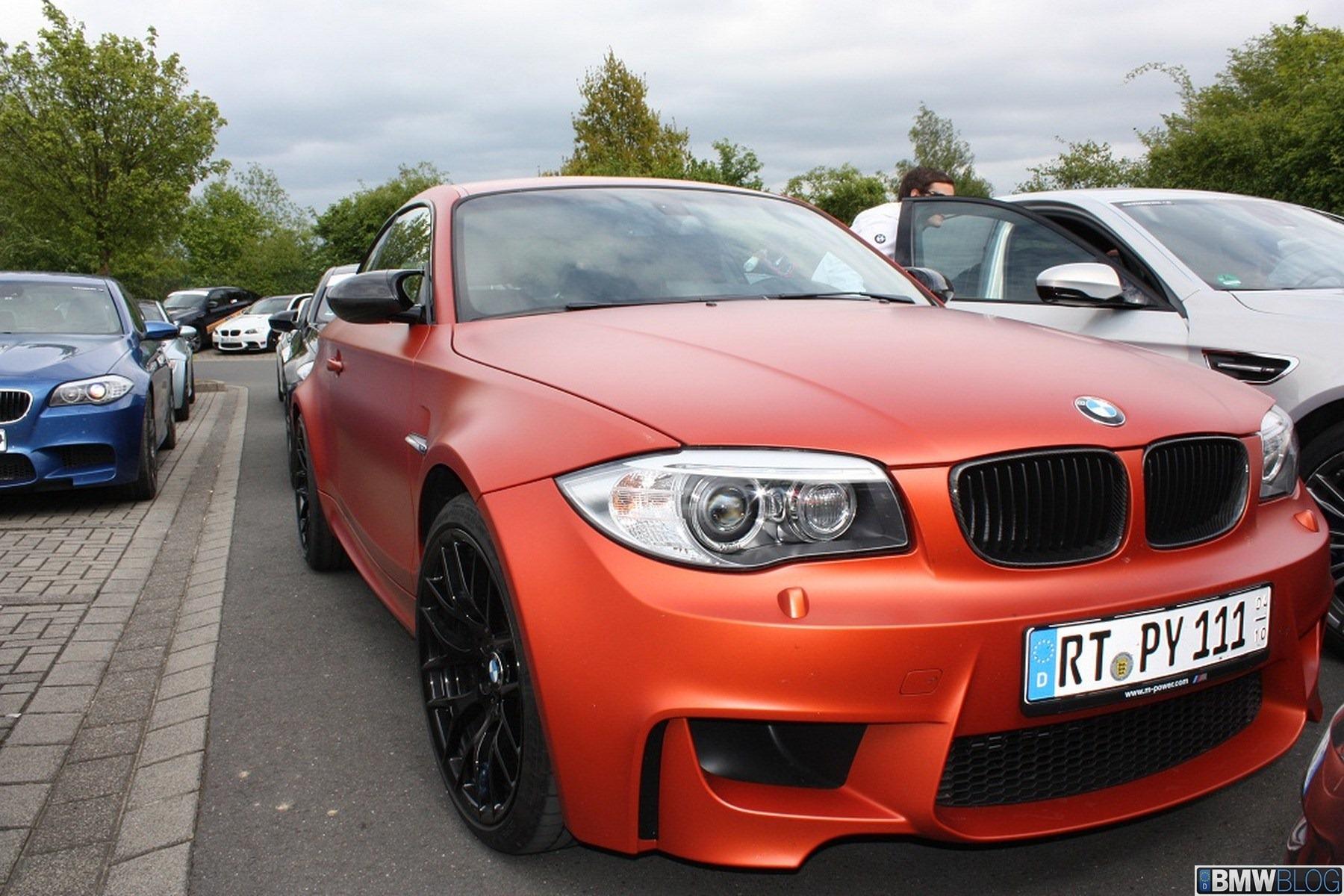 BMW 1er M Coupé In Valencia Orange Matt: Vom Glanz Befreit