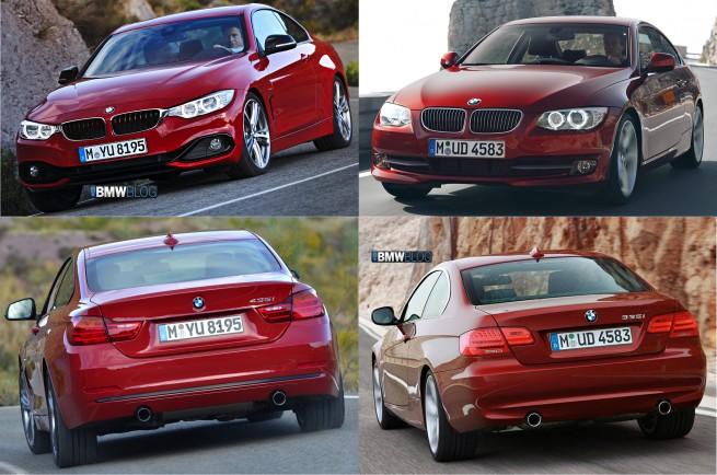 BMW-4er-F32-Bild-Vergleich-3er-E92-Coupe