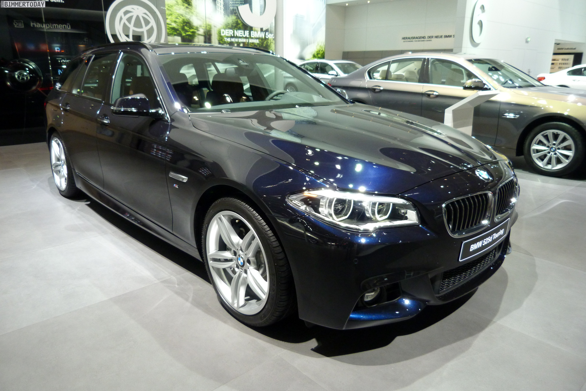 iaa 2013 bmw 5er touring facelift mit voll led und m. Black Bedroom Furniture Sets. Home Design Ideas