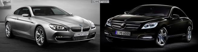BMW-6er-Coupé-F13-Mercedes-CL-Bildvergleich-Front-2